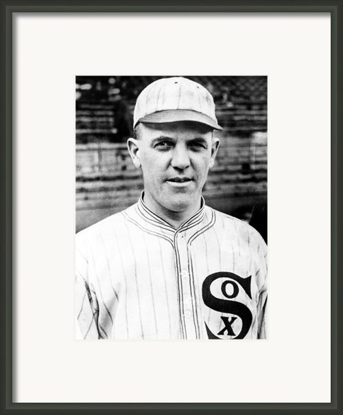 Baseball, Eddie Cicotte, Pitcher & Framed Print By Everett