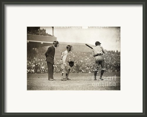 Baseball Game, 1908 Framed Print By Granger