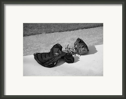 Baseball Glove And Chest Protector Framed Print By Frank Romeo