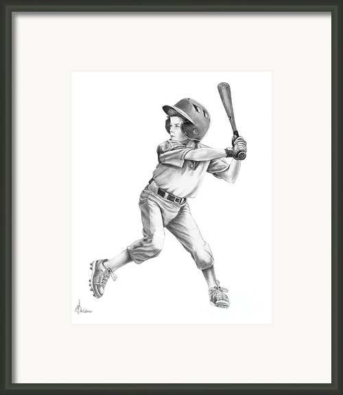 Baseball Kid Framed Print By Murphy Elliott