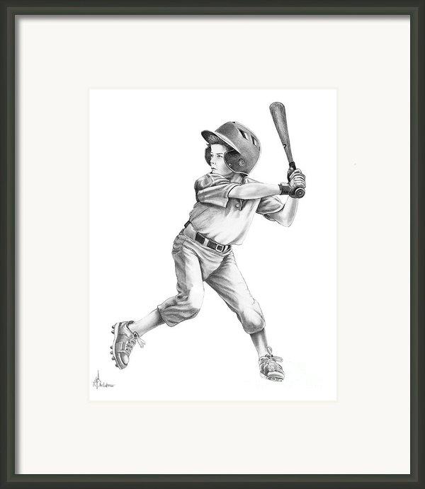 Baseball Kid Framed Print By Murphy Elliott