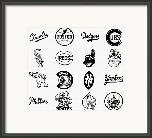 Baseball Logos Framed Print By Granger