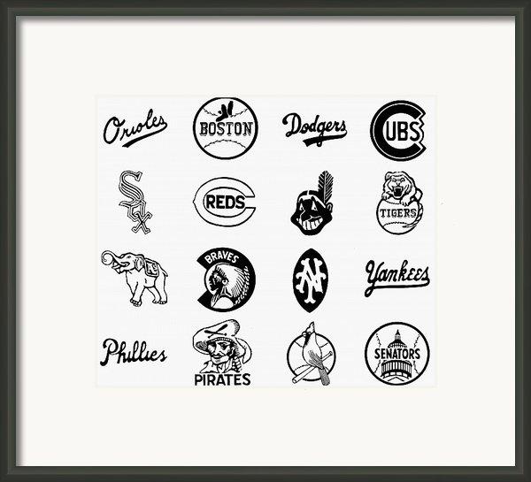 Baseball Logos Framed Print By Granger