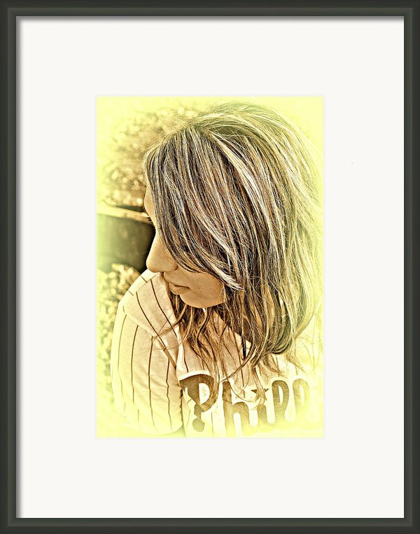 Baseball Love Framed Print By Ashley Branstetter