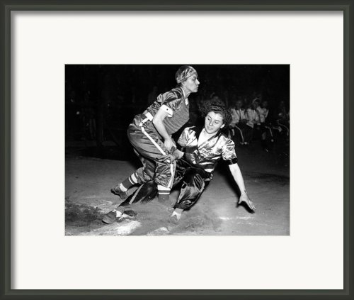 Baseball, Mary Farmer Of The Chicago Framed Print By Everett