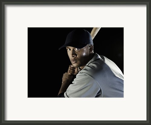 Baseball Player Framed Print By Patrik Giardino