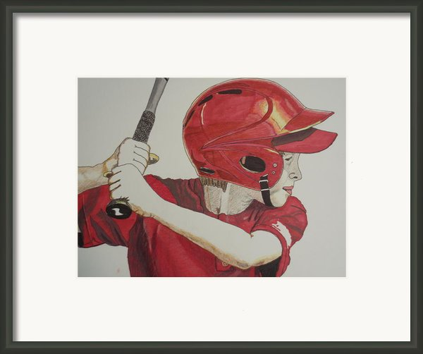 Baseball Ready 2 Framed Print By Michael Runner