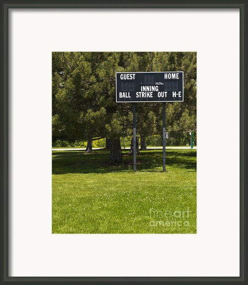 Baseball Scoreboard Framed Print By Thom Gourley/flatbread Images, Llc