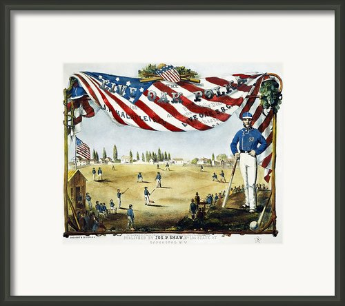Baseball Song Sheet, 1860 Framed Print By Granger