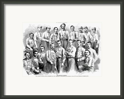 Baseball Teams, 1866 Framed Print By Granger