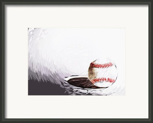 Baseball Framed Print By Tilly Williams