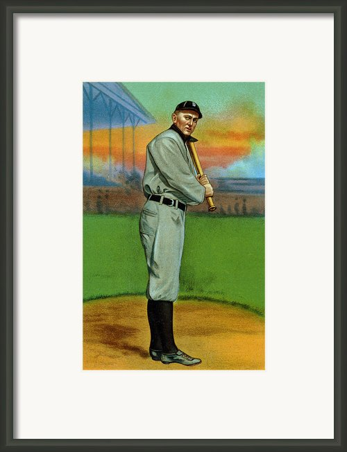 Baseball. Ty Cobb Baseball Card Framed Print By Everett