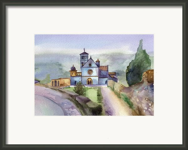 Basilica Of St Francis  Assisi Framed Print By Lydia Irving