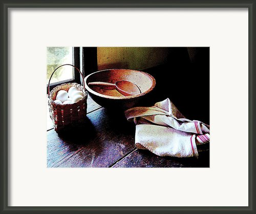 Basket Of Eggs Framed Print By Susan Savad