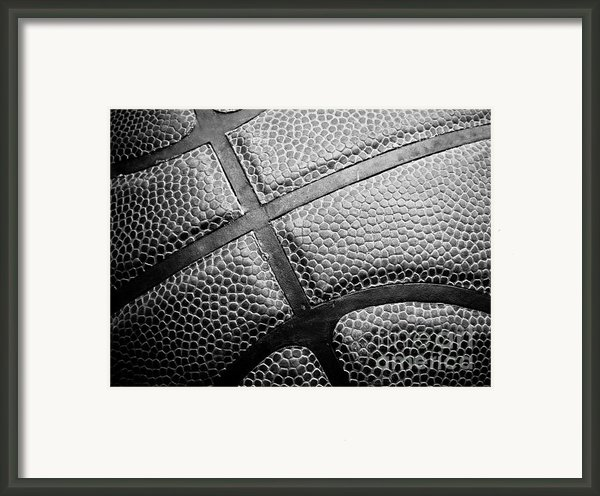 Basketball -black And White Framed Print By Ben Haslam