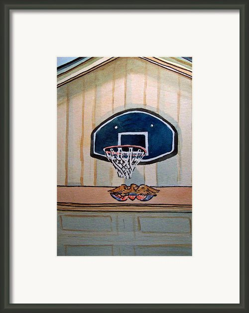 Basketball Hoop Sketchbook Project Down My Street Framed Print By Irina Sztukowski