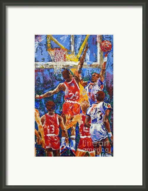 Basketball No 1 Framed Print By Walter Fahmy