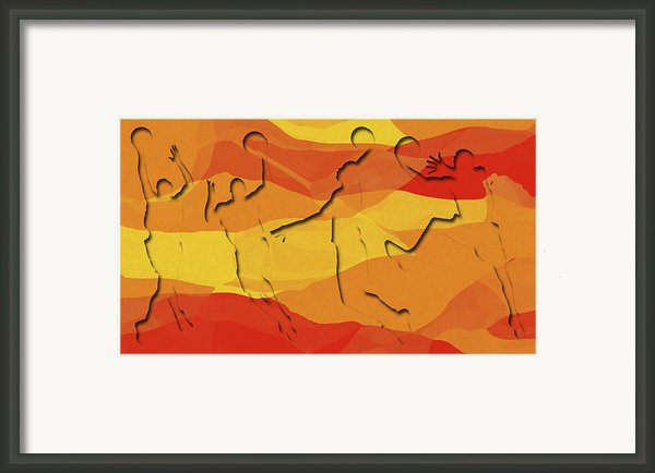 Basketball Players Abstract Framed Print By David G Paul