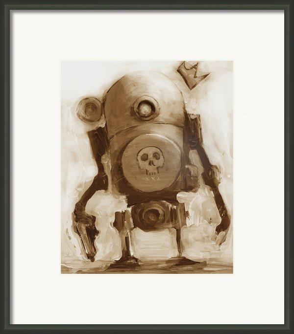 Basquibot Framed Print By Matthew Schenk