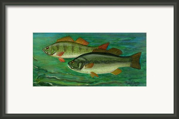 Bass And Perch Framed Print By Anna Folkartanna Maciejewska-dyba