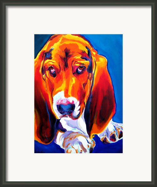 Basset - Ears Framed Print By Alicia Vannoy Call