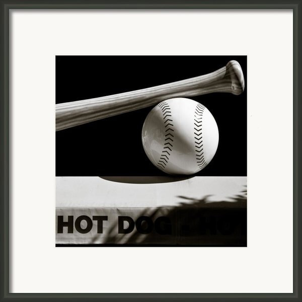 Bat And Ball Framed Print By David Bowman