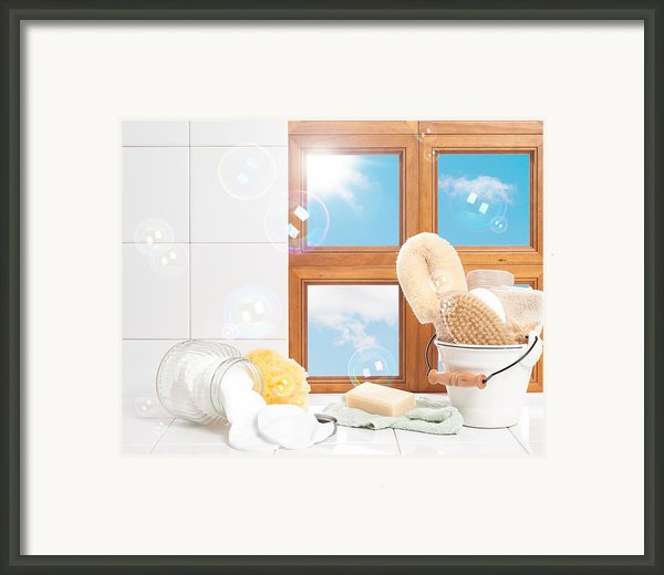 Bathroom Interior Still Life Framed Print By Christopher And Amanda Elwell