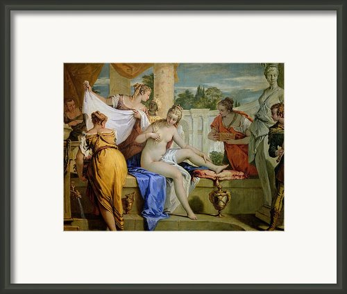 Bathsheba Bathing Framed Print By Sebastiano Ricci