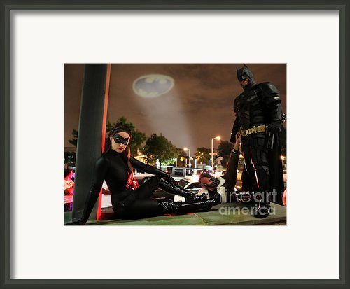 Batman The Dark Knight Rises Newark New Jersey Premiere Event  Framed Print By Lee Dos Santos