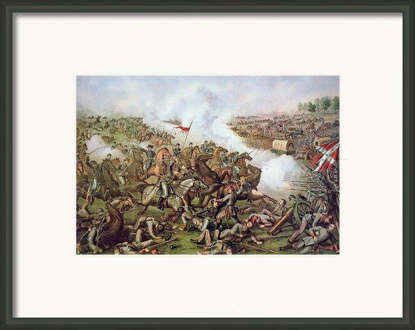 Battle Of Five Forks Virginia 1st April 1865 Framed Print By American School