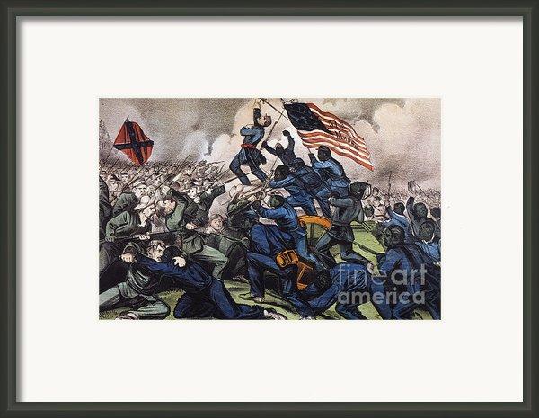 Battle Of Fort Wagner, 1863 Framed Print By Granger