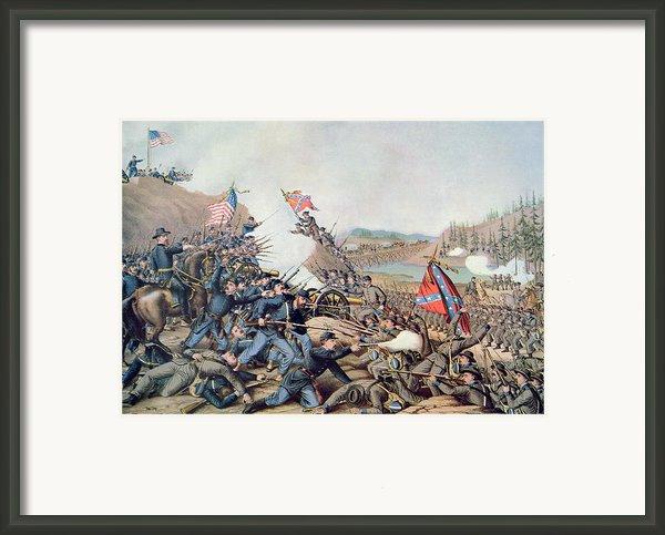 Battle Of Franklin November 30th 1864 Framed Print By American School