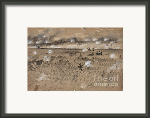 Battle Of Fredericksburg Framed Print By Granger