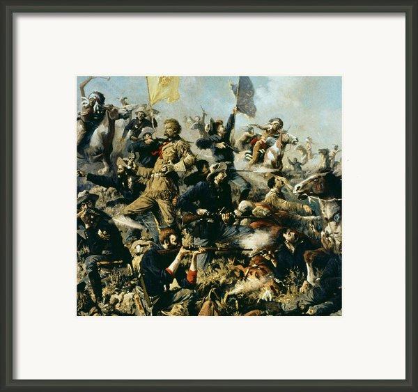 Battle Of Little Bighorn Framed Print By Edgar Samuel Paxson