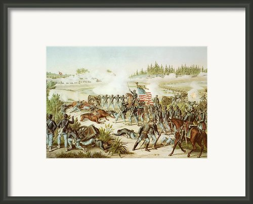 Battle Of Olustee Framed Print By American School