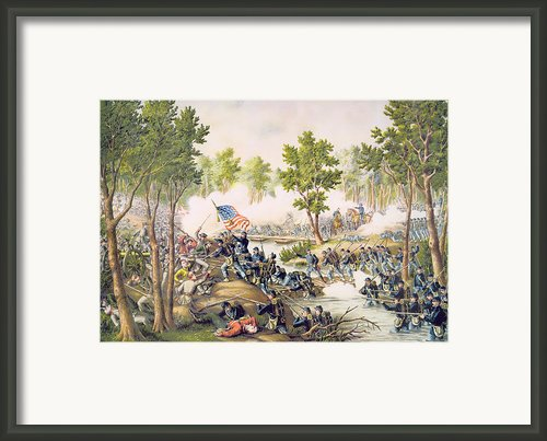 Battle Of Spottsylvania May 1864 Framed Print By American School