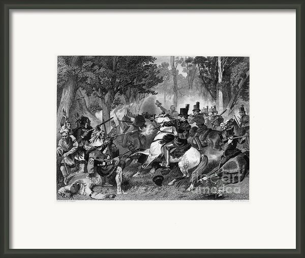 Battle Of The Thames Framed Print By Granger
