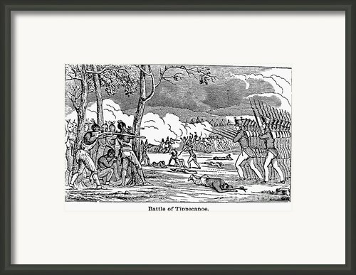 Battle Of Tippecanoe Framed Print By Granger