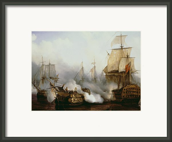 Battle Of Trafalgar Framed Print By Louis Philippe Crepin