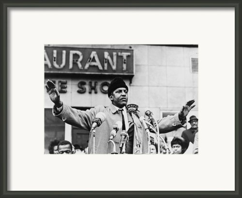 Bayard Rustin 1912-1987, Speaking Framed Print By Everett