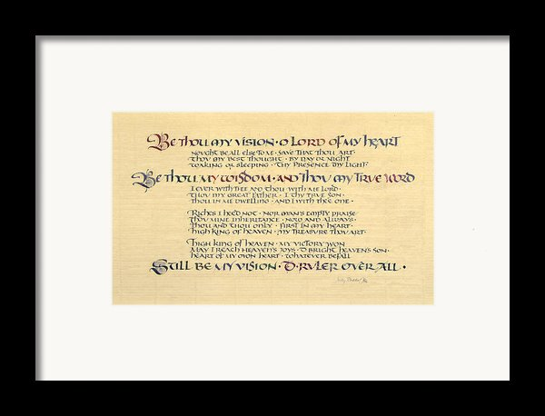 Be Thou My Vision Framed Print By Judy Dodds