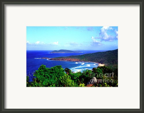 Beach And Cayo Norte From Mount Resaca Framed Print By Thomas R Fletcher