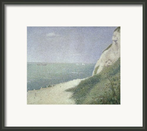 Beach At Bas Butin Framed Print By Georges Pierre Seurat