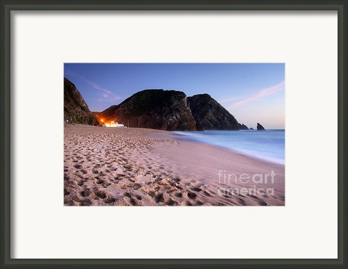 Beach At Evening Framed Print By Carlos Caetano