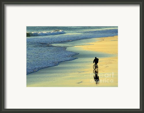Beach Biker Framed Print By Carlos Caetano