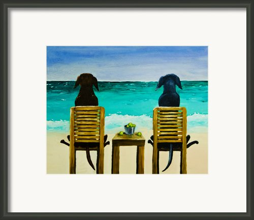 Beach Bums Framed Print By Roger Wedegis