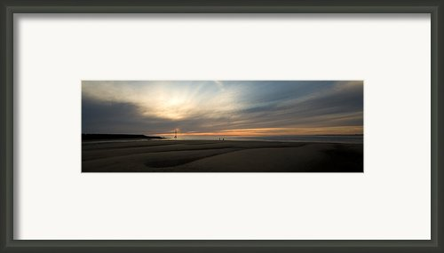 Beach Casters On The Wirral Framed Print By Wayne Molyneux