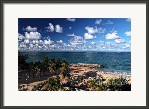 Beach Day At San Juan Framed Print By John Rizzuto