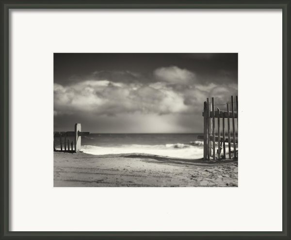 Beach Fence - Wellfleet Cape Cod Framed Print By Dapixara Art