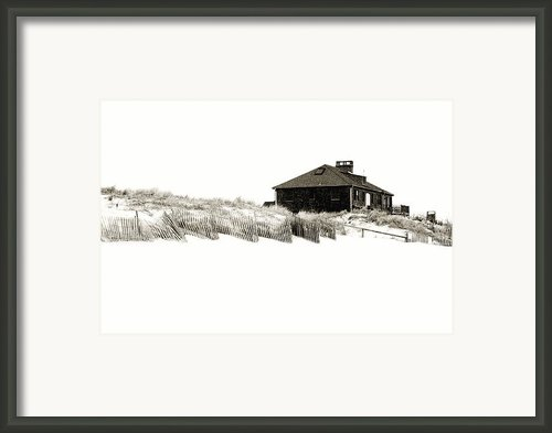 Beach House - Jersey Shore Framed Print By Angie Mckenzie
